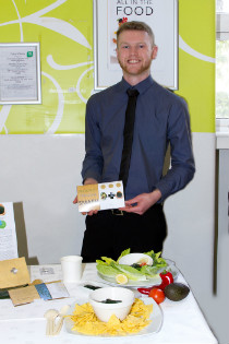 Colin Mills, winner of the DIT's Food developement fair 2017
